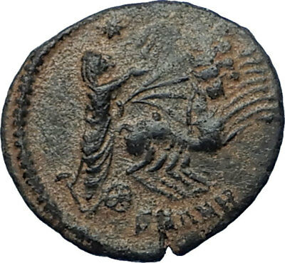 CONSTANTINE I the Great CHARIOT to GOD HAND in HEAVEN Ancient Roman Coin i68173