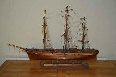 Vintage Cutty Sark Very Large Model Ship Tea Clipper Hand Made Wood Detail Model