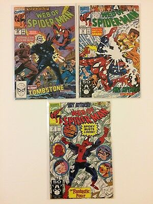 Lot of 3 Web Of Spider-Man #68 75 76 Marvel Comics (1990-1991)