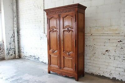 Baker Furniture Milling Road Country French Cherry Wood Armoire Dresser
