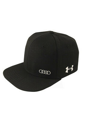 Genuine Audi Collection Under Armour Flat Bill Cap - BLACK (FlexFit Size: M/L)