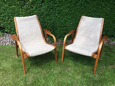 3 Original Swedese Laminett Chairs, 2/Pair in great condition, +1 showing ware