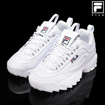 factory authentic fdadc 5d2c6 FILA Disruptor II White Trainers Classic Athletic Unisex Shoes  FS1HTA1071X WWT