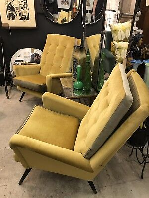 Pair Of 1950s Armchairs Mid century