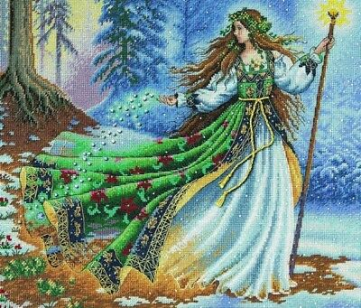 "DIMENSIONS  GOLD COLLECTIONS ""WOODLAND ENTRANTRESS""CROSS STITCH KIT  Kreuzstich"
