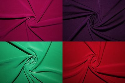 """ITY Fabric Polyester Lycra Spandex Stretch 15 Colors 56""""-58"""" Medium Weight BTY"""