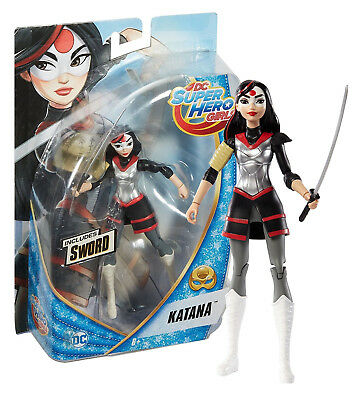 "DC Super Hero Girls Katana 6"" Figure with Sword New in Box"