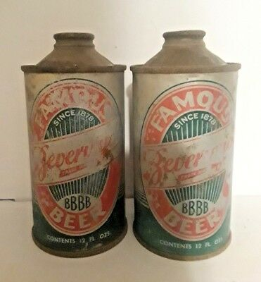 Beverwyck Beer Cone top beer can Set of 2 different cans.  Albany NY