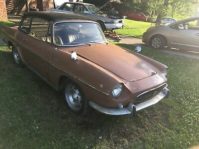 1964 Renault Caravelle black leather renault its a convertible with removeable metal top, along with rag top also.