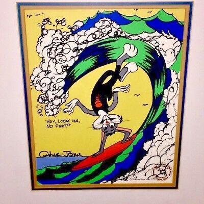 Warner Brothers Bugs Bunny Cel Surfs Up Signed Chuck Jones Rare Animation Cell