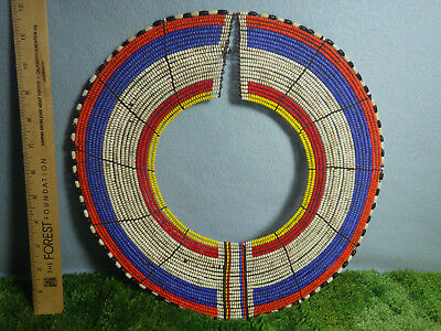 Antique African Maasai  Beaded Tribal Collar Necklace Jewelry