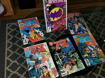 Mixed Batman assorted comic book lot bronze age and current rare issues collect