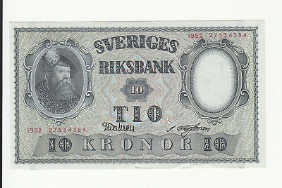 Sweden 10 kronor 1952 AUNC @ low start