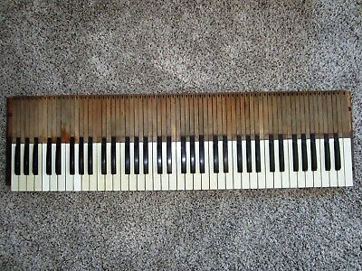 1800s Full Set Antique Piano Keys Victorian Parlor Pump Reed Organ Keyboard ART!