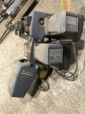 Donati electric hoist swl 750kgs up down left and right crane