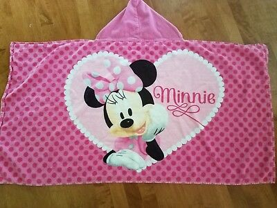 Baby/Toddler Minnie Mouse Hooded Towel Gently Used Conditon