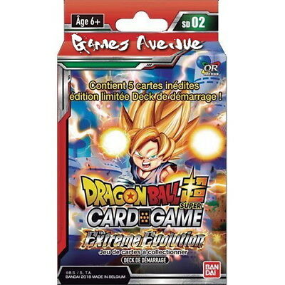 "Dragon Ball Super Card Game! Deck de Démarrage ""The Extreme Evolution""  VF/SD02"