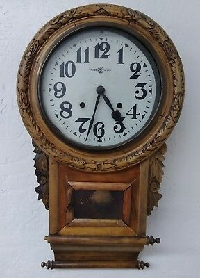 Vintage REGULATOR 31 DAY WALL CLOCK Wood With PENDULUM CHIME (CO193)