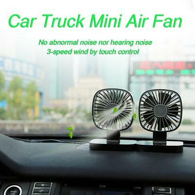 Car Truck Vehicle USB Powered 3Speed Strong Wind Low Noise Mini Air Cooling Fan