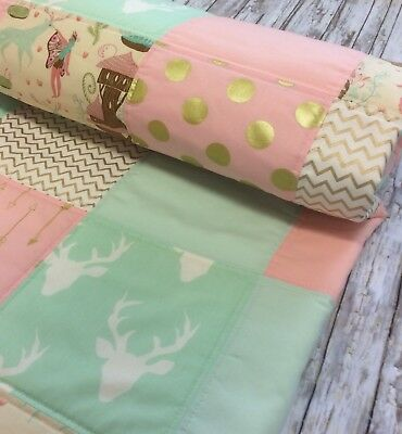 Baby Girl Woodland Quilt Stag Woodland Nymph Fairy