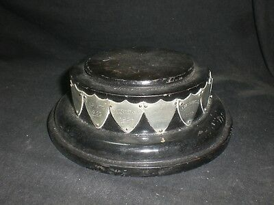 Antique Vintage Wooden Display Trophy Plinth Base Ebonised