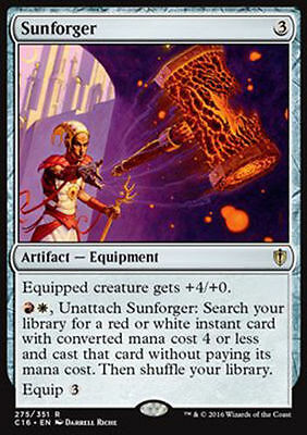 1x SUNFORGER - Rare - Commander - MTG - NM - Magic the Gathering