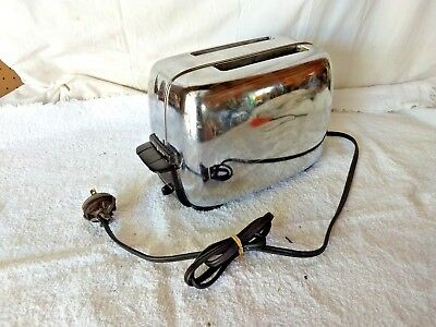 Vintage GE General Electric 92T82 Chrome 50's Toaster Tested Works