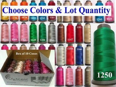 10 Crescent Rayon Machine Embroidery Thread Spool 2500m / 80g Each Choose Colors