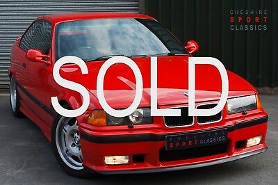 BMW E36 M3 3.0 Coupe - 1995, Hellrot Red, Vader Interior, 5 speed Manual, 111k.