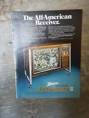 1974 print ad-The All-American Receiver-Zenith Solid State Chromacolor II TV
