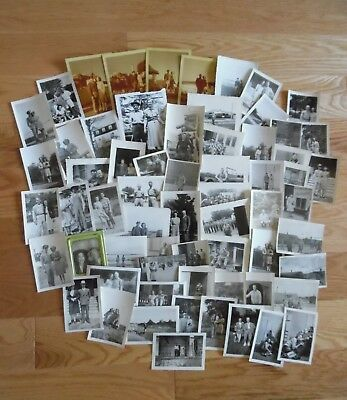 VINTAGE LOT - WWII 1940s PHOTO NAVY~ AIR FORCE Couples Photographs B&W + Color