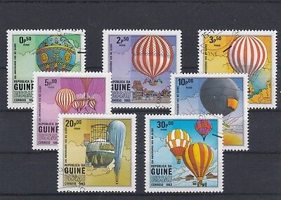 Guinea Bissau 1983 Ascents Man Atmosphere 7 Stamps Cancelled Yt 173 A 179