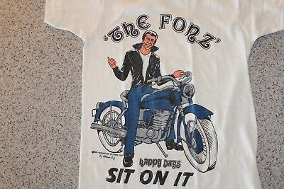 Vintage rare Fonzie Happy Days white shirt from 1976