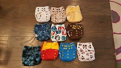 Pocket Style Cloth Diapers lot of 10.