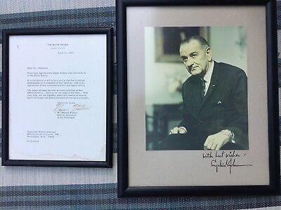 President LB Johnson  & W. Marvin Watson Signed & Provenance document