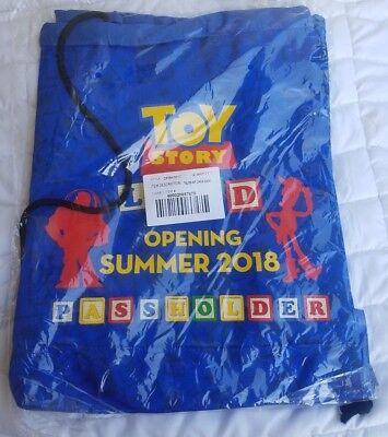 Disney Parks TOY STORY LAND Passholder Opening Day Draw String Bag NEW