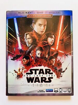 Star Wars: The Last Jedi (3-Disc Blu-Ray DVD Combo Pack; Disney; Outer Sleeve)