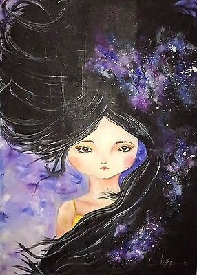 """PAINTING LARGE ORIGINAL DESIGN ACRYLIC CANVAS WALL ART 36""""X48"""" by Lisa."""