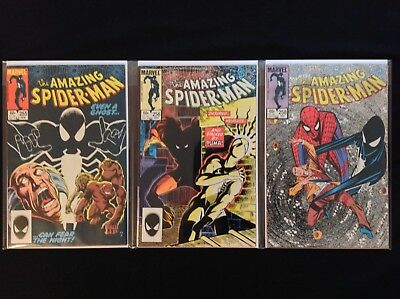 AMAZING SPIDER-MAN Lot of 3 Marvel Comic Books - #255 256 258!