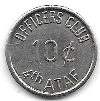 Germany, Unassigned, Officers Club, 10c, 4th ATAF, Military Token
