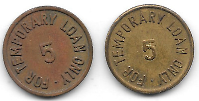 Germany, Unassigned, Gen. Dist. & Exp. Inc., 5+ unl variety, (2) Military Tokens