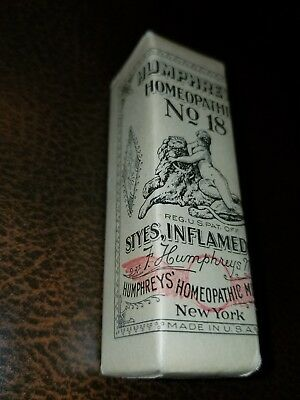 Antique Humphreys Homeopathic Medicine NOS #18 Styles Inflamed Eyes