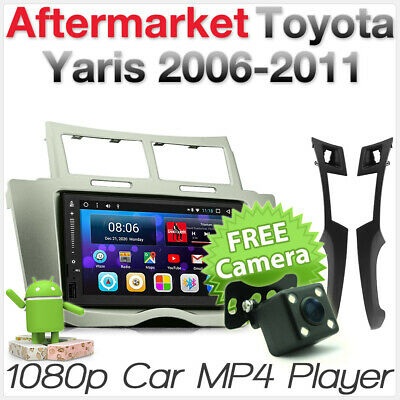 Android Car MP3 GPS For Toyota Yaris 2008 2009 Fascia Kit Head Unit Radio Stereo