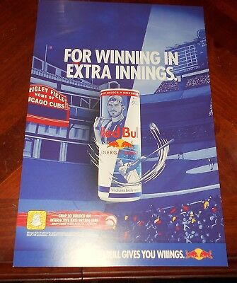 Red Bull Kris Bryant Energy Drink Chicago Cubs Red Bull CARDBOARD DISPLAY AD