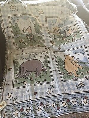 Disney Classic Pooh Cotton Throw/Blanket, Rug, NEW w/Tags, Large,Goodwin Weaver