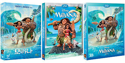 Moana (2017, DVD, Blu-ray, 3D) Slip Case Edition / Pick one!