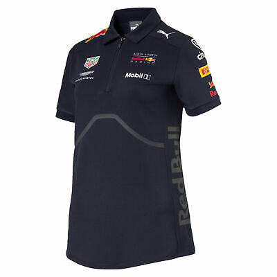 PUMA ASTON MARTIN RED BULL RACING Damen Team Polo Frauen Polo-Shirt Neu