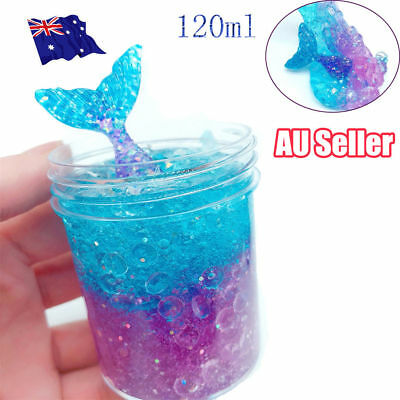 120ML Multicolor Mermaid Crystal Slime Clay Squeeze Reduce Stress Child Toy S4