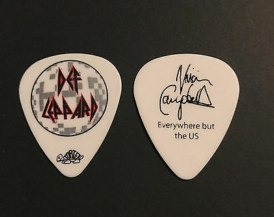 Def Leppard - Vivian Campbell 2011 World Tour Guitar Pick Everywhere But The US