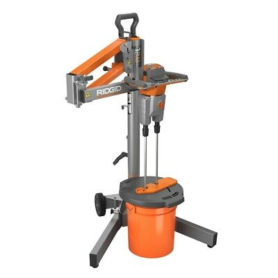 RIDGID Mixer Dual Paddle Programmable Foldable Stand for Mud Mortar Grout Power